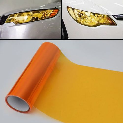 30 x 100cm orange Headlight Tint Film Fog Tail Lights TintingWrap,2 DAY DELIVERY
